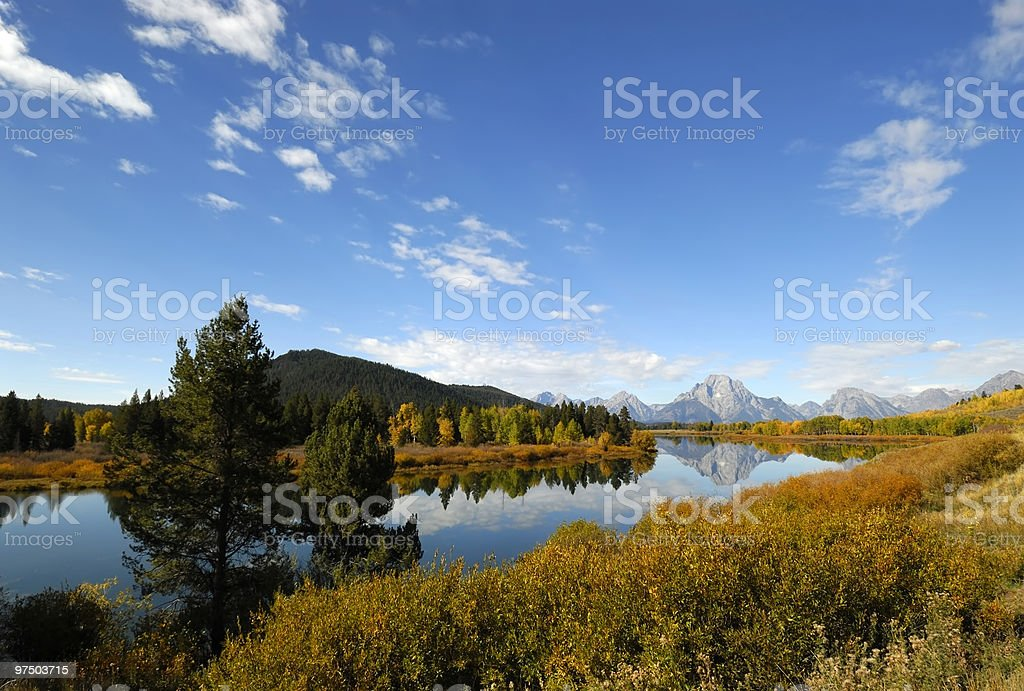 Big Sky Over Oxbow royalty-free stock photo