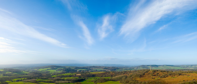 High Quality Sky Panorama. Polarizer Filter. Great Detail. Nikon D810. Converted from RAW.
