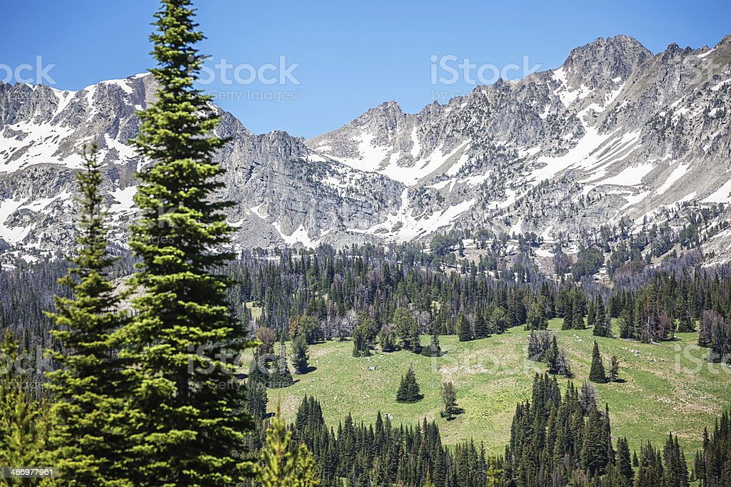 Big Sky Rocky Mountains, Montana stock photo