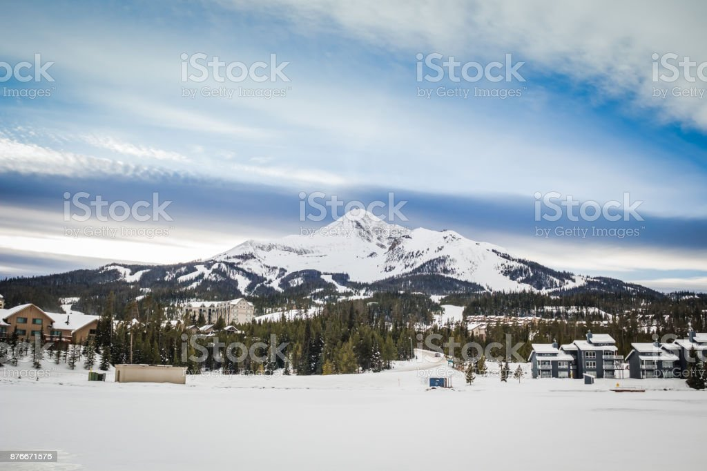 Big Sky Snow stock photo