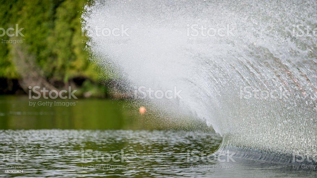 Big Slalom Ski Spray stock photo
