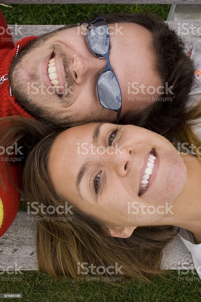 big smile from above royalty-free stock photo