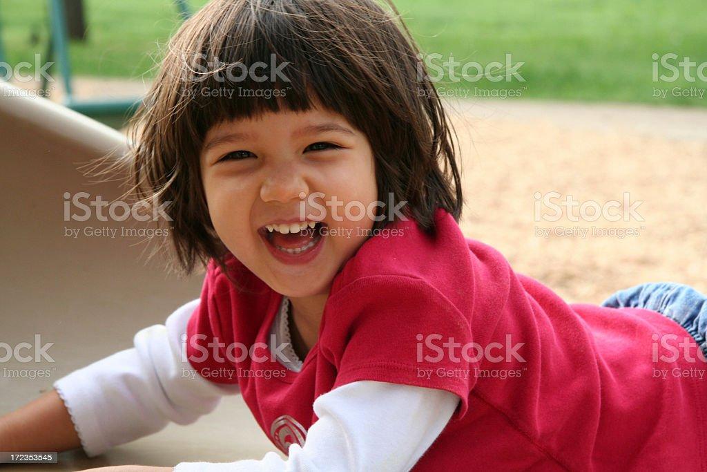 Gran sonrisa en las guías foto de stock libre de derechos