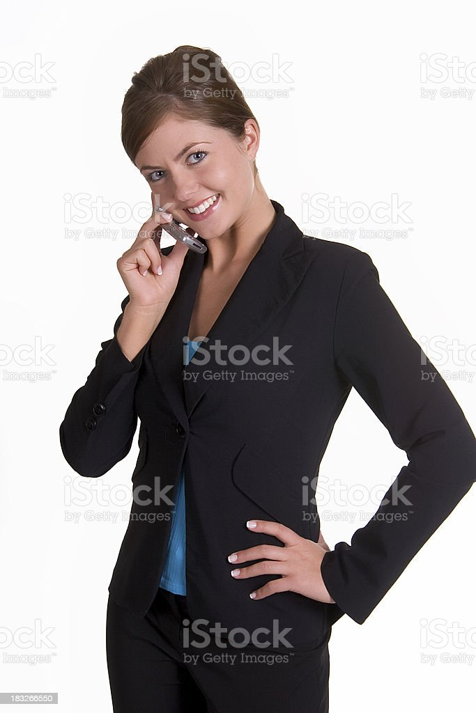Big smile phone call royalty-free stock photo