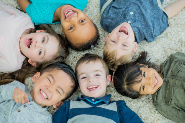 big smiles - preschool stock photos and pictures