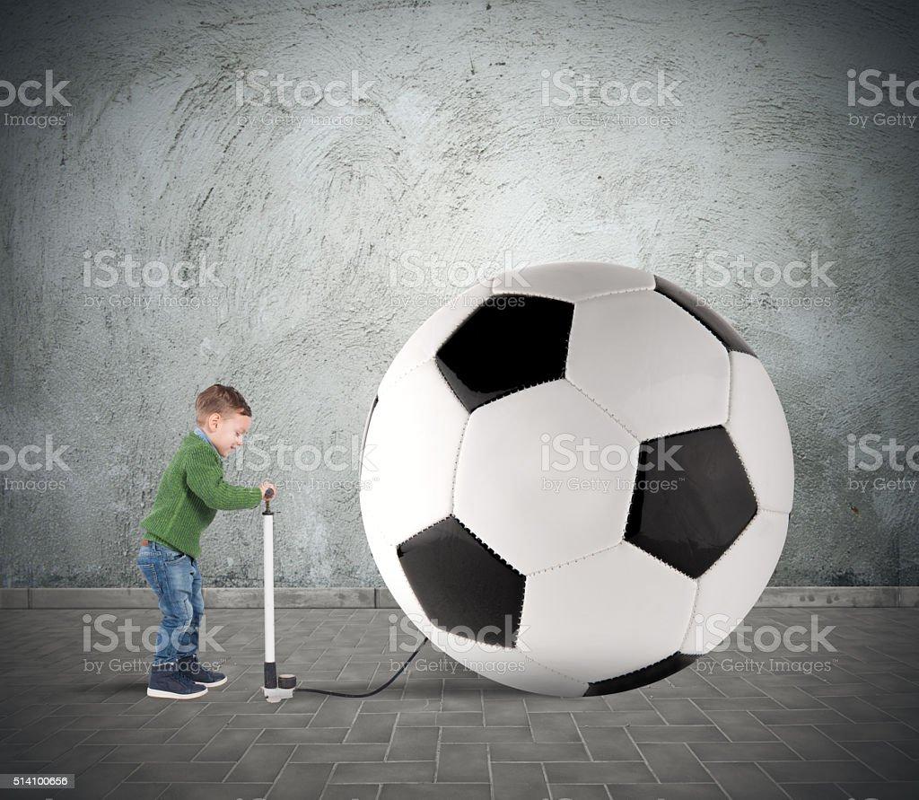 Big soccerball stock photo