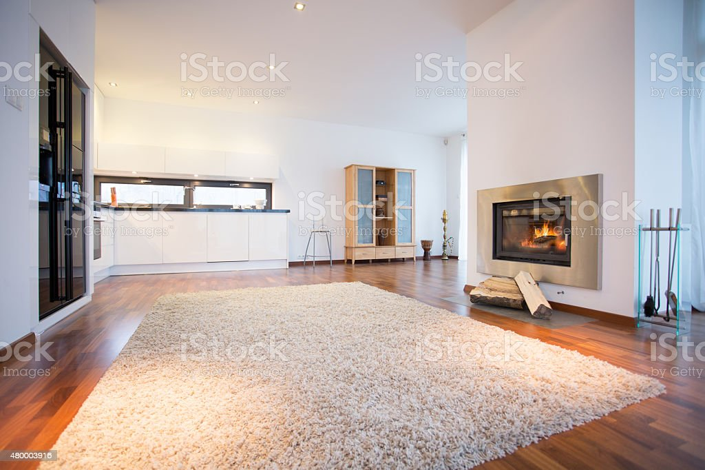 Big soft carpet stock photo