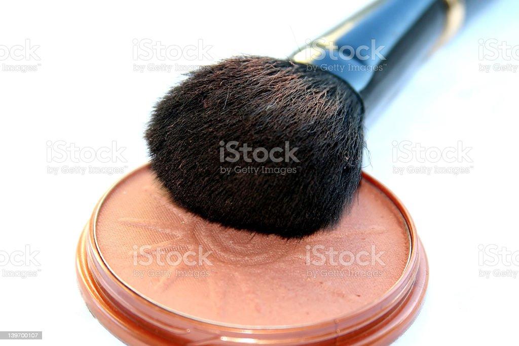 big soft make-up brush royalty-free stock photo