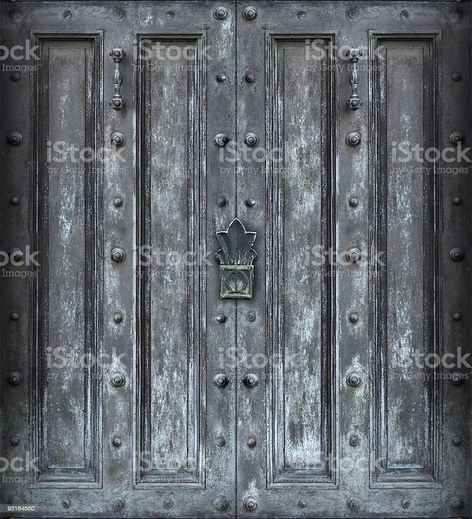Big solid iron protected door royalty-free stock photo