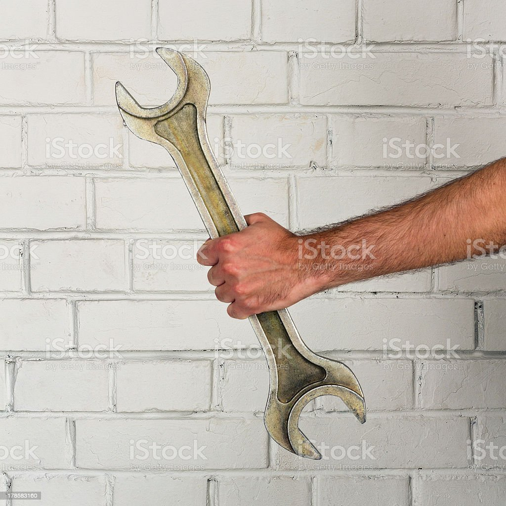 Big spanner royalty-free stock photo