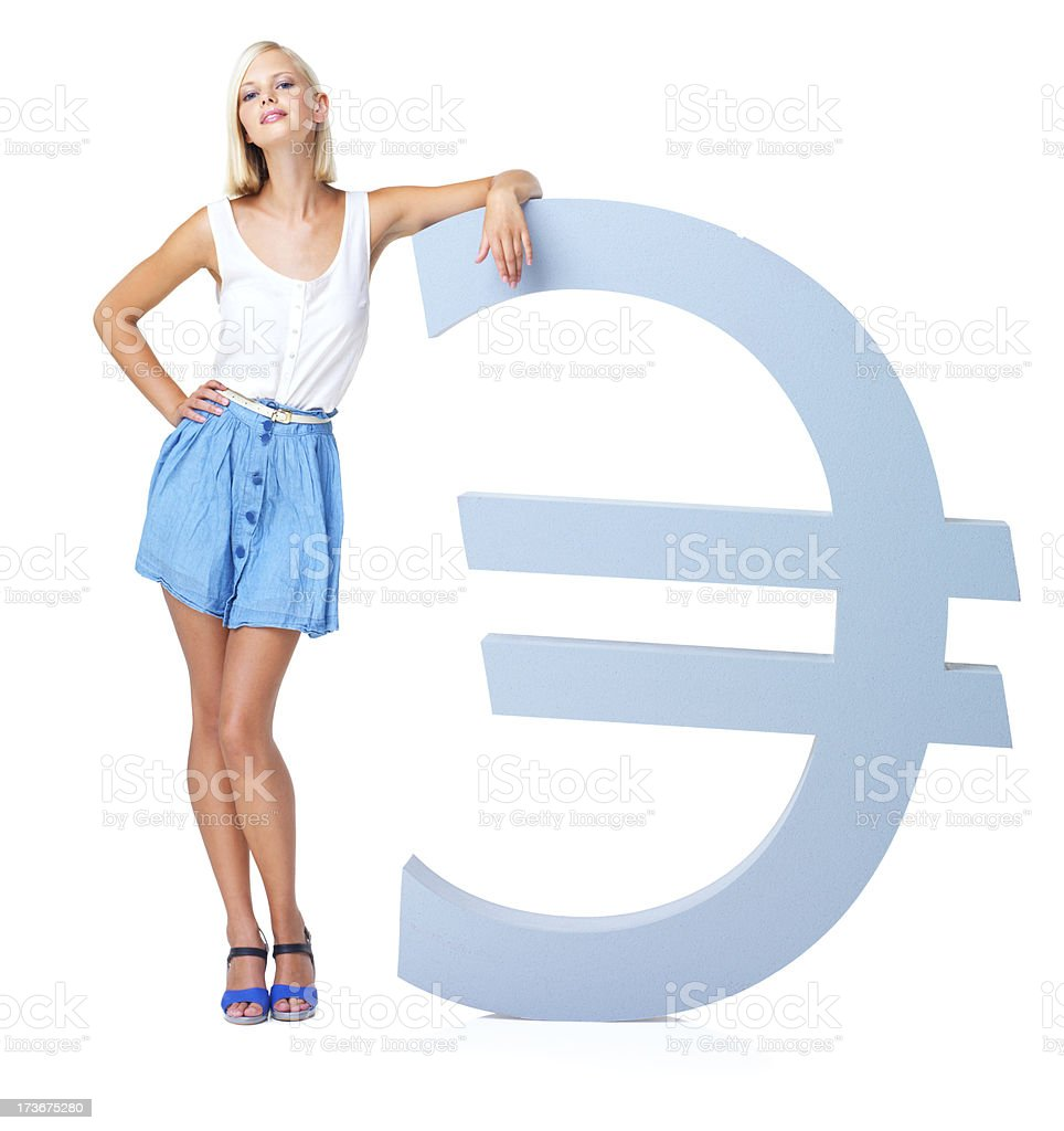 Big spender, gold digger or just plain rich (Euro) stock photo