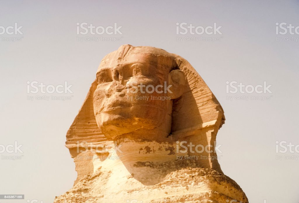 Big Sphinx. Pyramids, megalithic structures of ancient civilization. stock photo