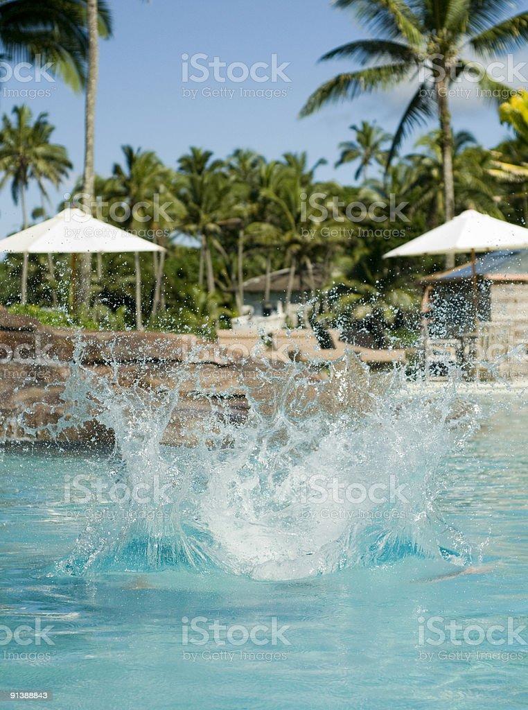 Big splash stock photo