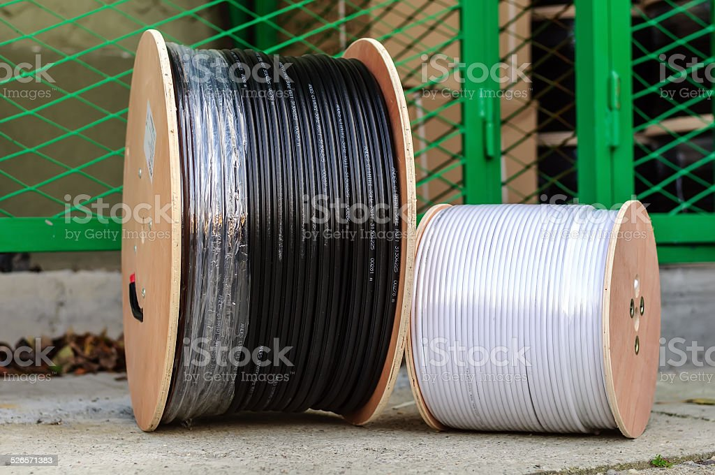 Big Spool Of Optic Wires Stock Photo - Download Image Now ... on