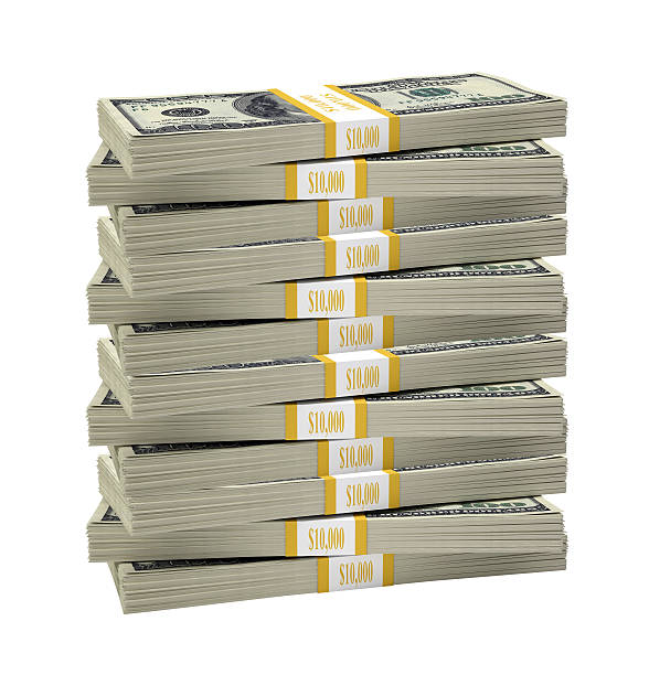 big stack of dollar - stack stock pictures, royalty-free photos & images