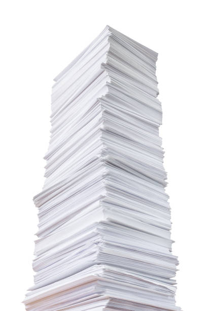 Big stack of paper stock photo