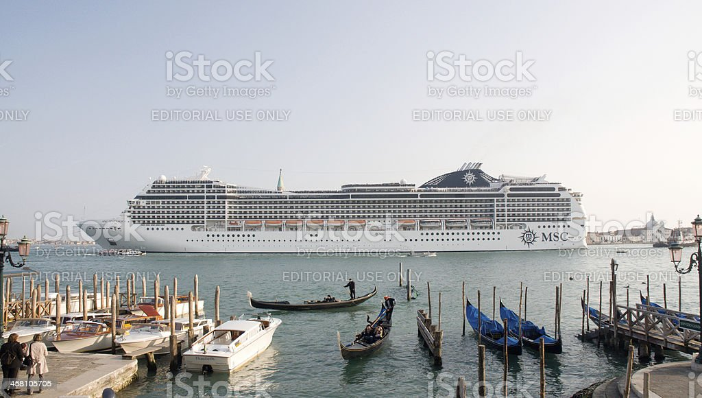 Big steamer in Venice royalty-free stock photo