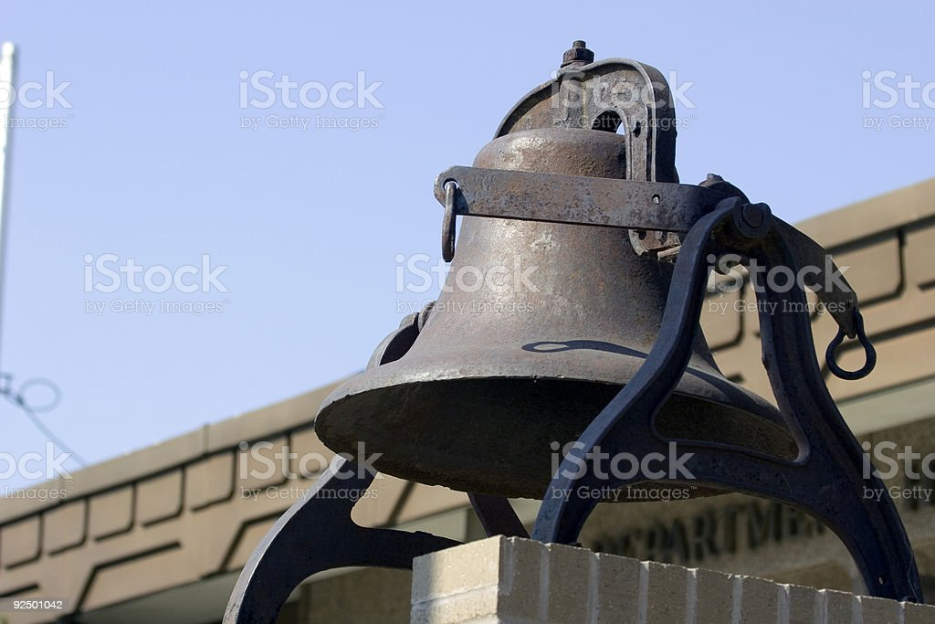 Big Steel Bell. royalty-free stock photo