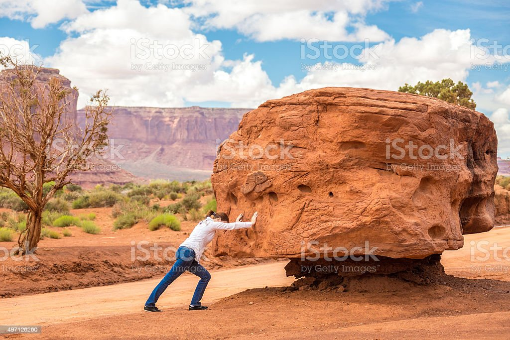 Big stone stock photo