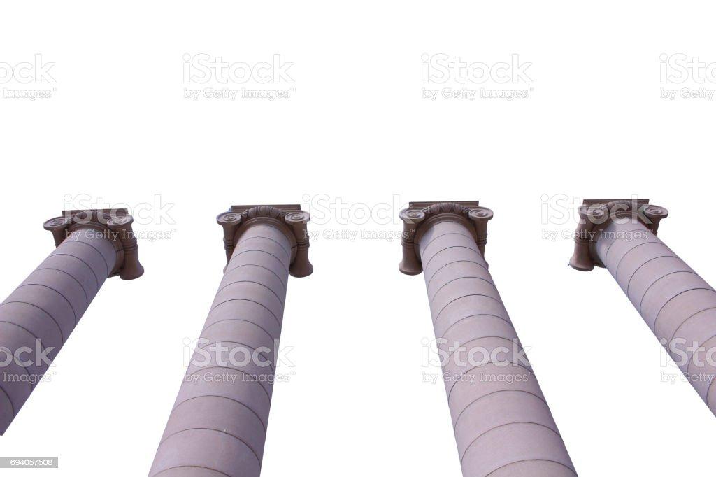 Big stone pillars in Barcelona stock photo
