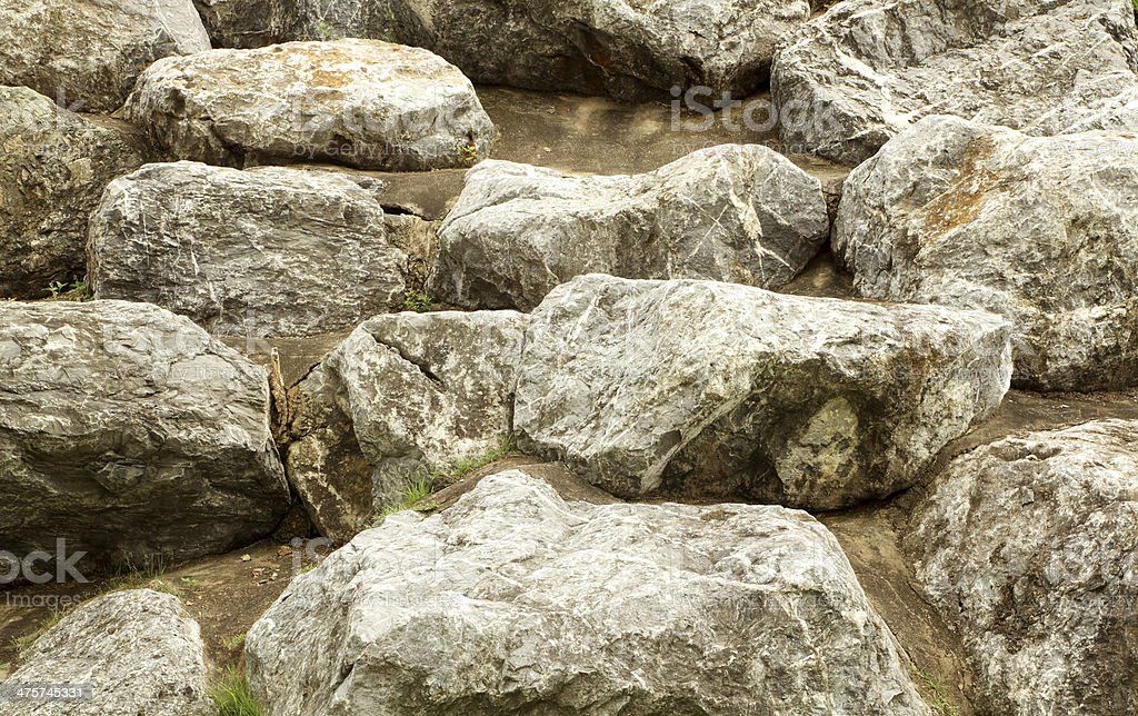 Big Stones In The Garden Royalty Free Stock Photo
