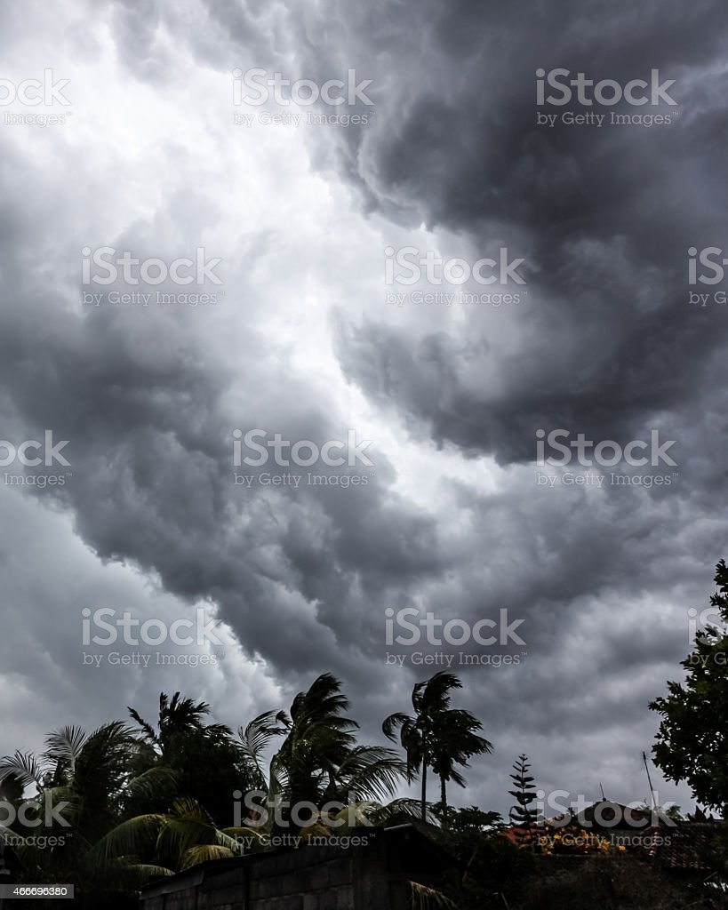 Big storm cloud stock photo