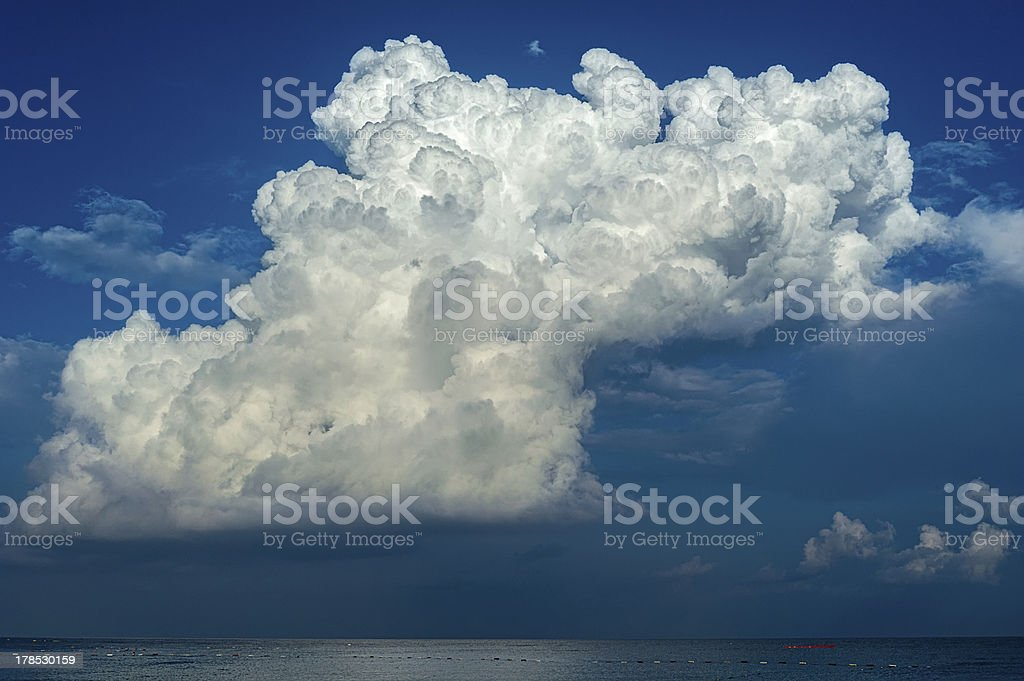 Big storm clouds over the sea royalty-free stock photo