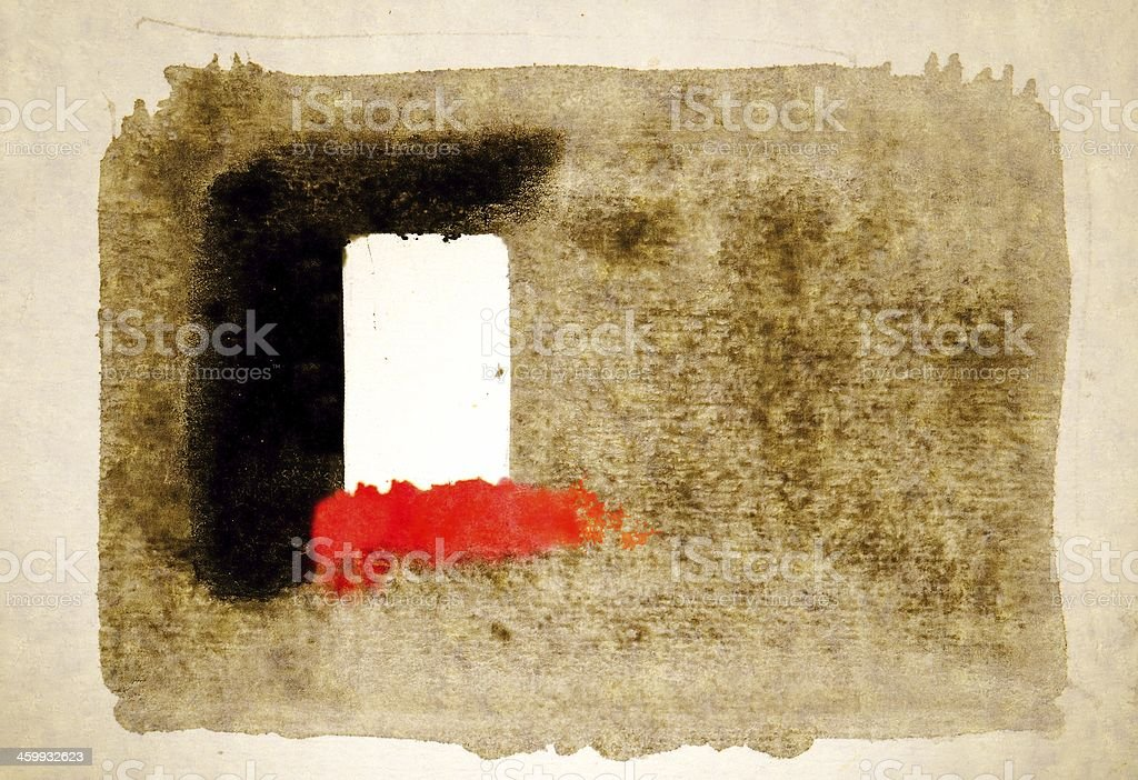 Big strokes of the brush on cotton paper. royalty-free stock photo