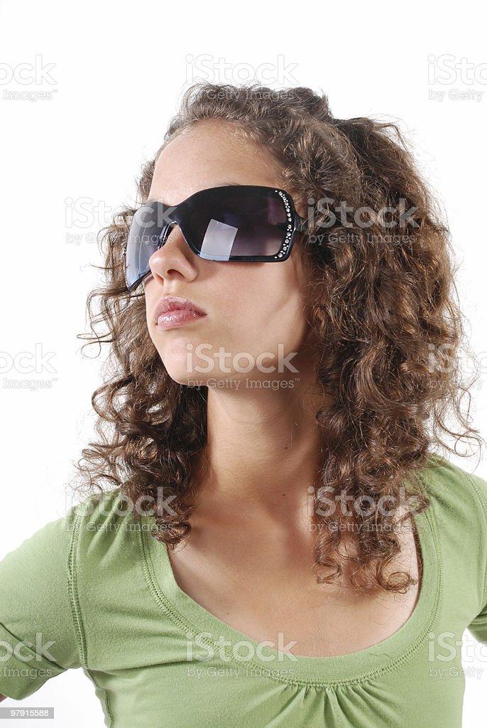 Big sunglasses, great look ! royalty-free stock photo