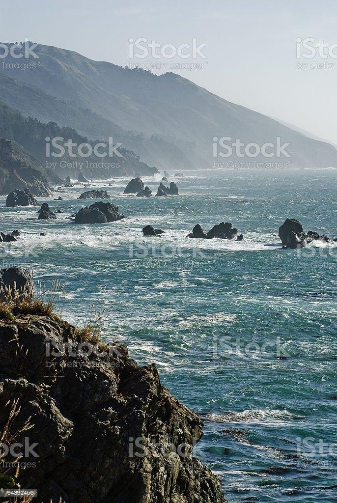 Big sur california coast line royalty-free stock photo