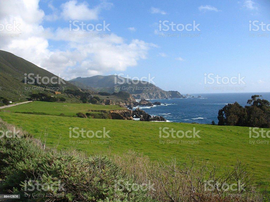 Big Sur California coast royalty-free stock photo
