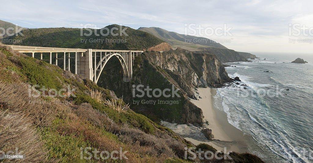 Big Sur Coastline and Bixby Bridge stock photo