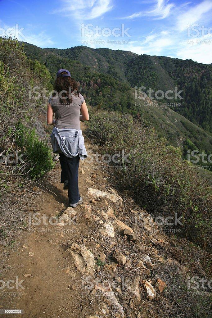 Big Sur Hiker royalty-free stock photo