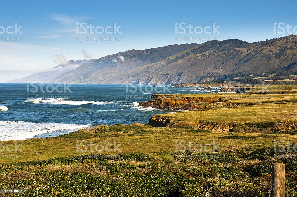 Big Sur Mountains stock photo