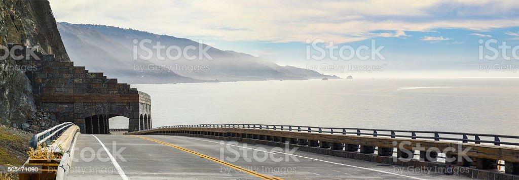 Big Sur Rock Shed stock photo