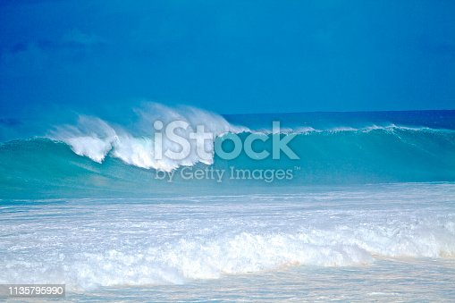 Big Waves with vibrant turquoise pantones