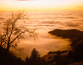 Misty clouds overview, heaven like feeling, above it all, mystical looking