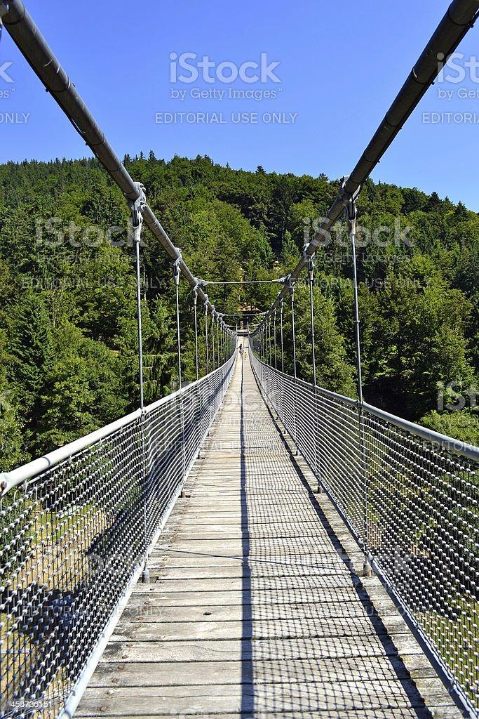 big swing bridge stock photo