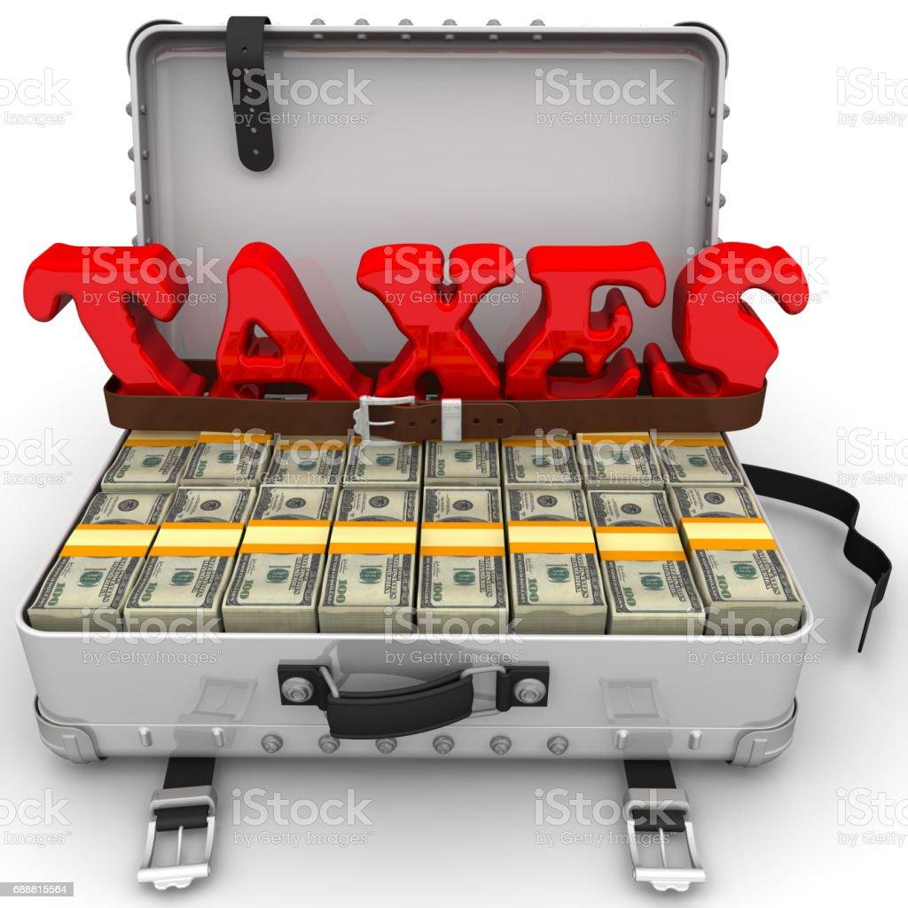Big taxes stock photo