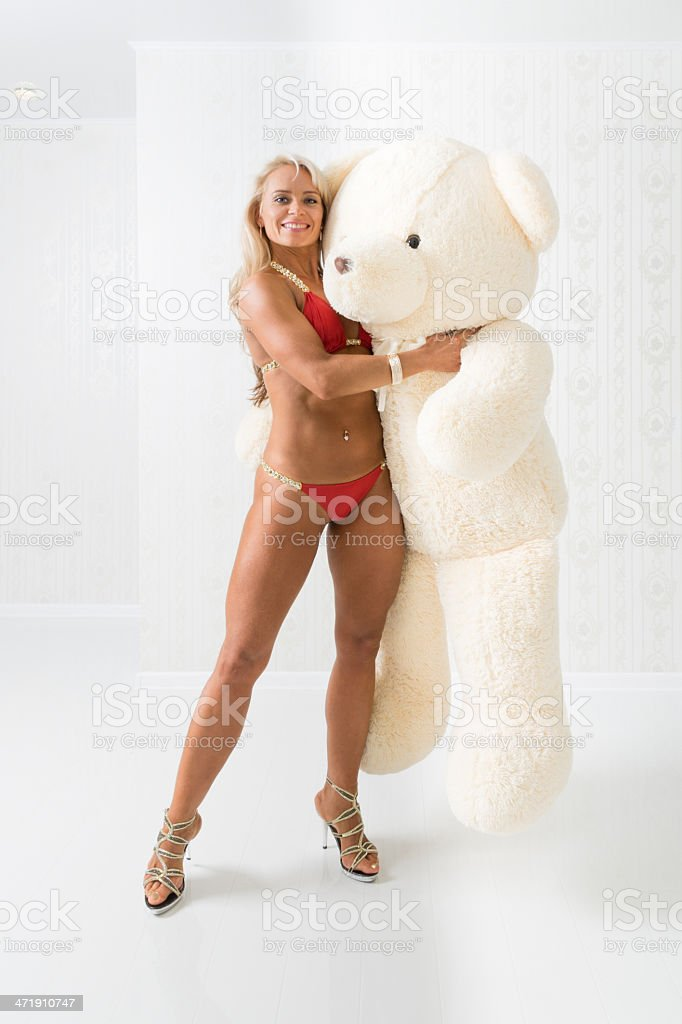 Big teddy-bear royalty-free stock photo