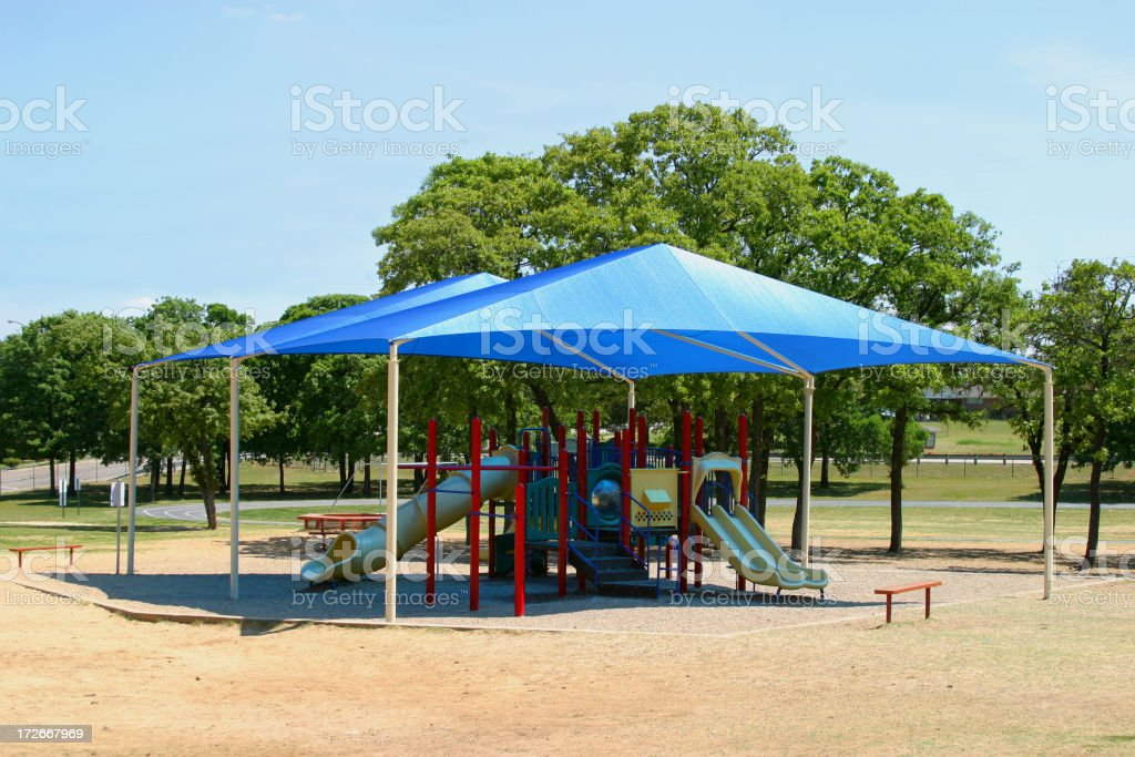 Big Tent Playground stock photo