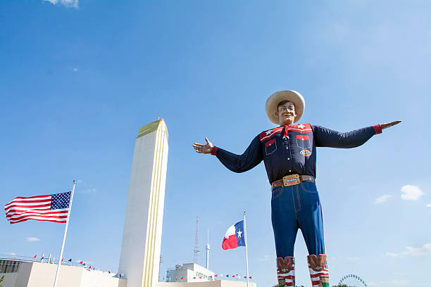 Big Tex at the Texas state fairgrounds stock photo