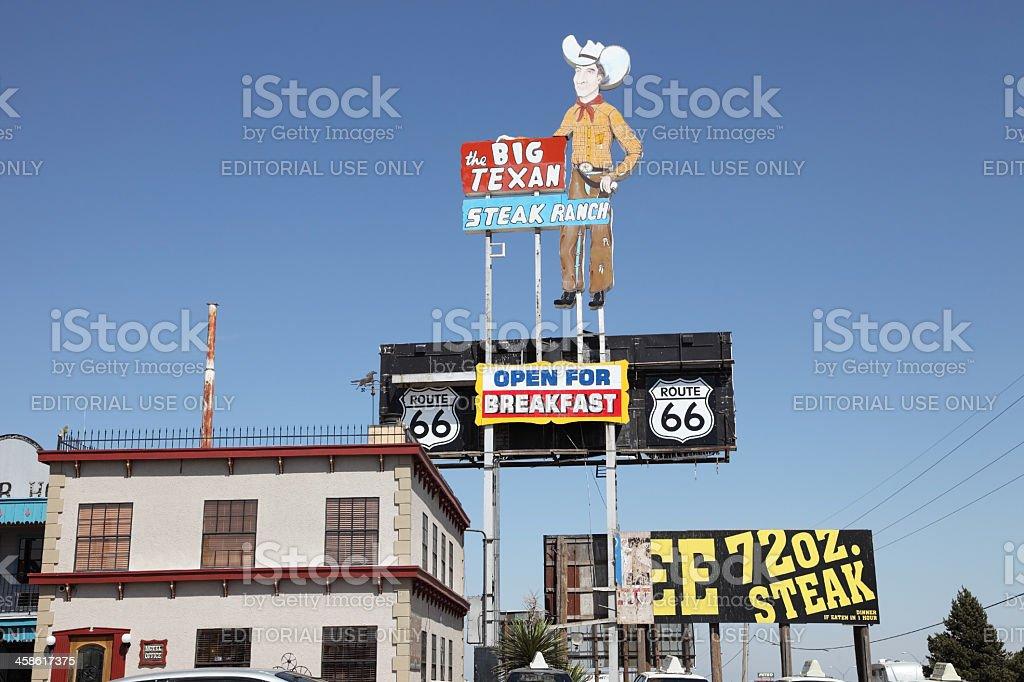 Big Texan Steak Ranch stock photo