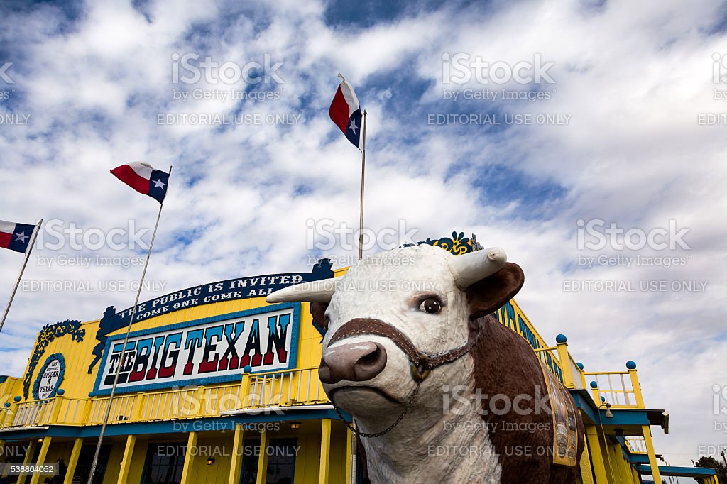 Big Texan Steak Ranch stock photo