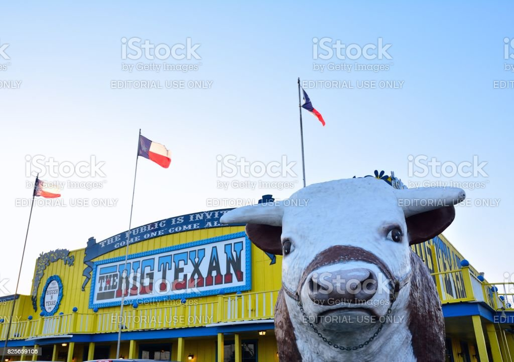 Big Texan steak ranch. stock photo