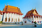 Big Thai Church at Wat Kalayanamit temple, Bangkok Thailand