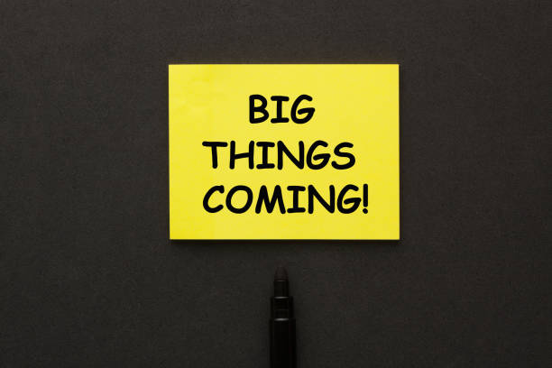 Big Things Coming stock photo