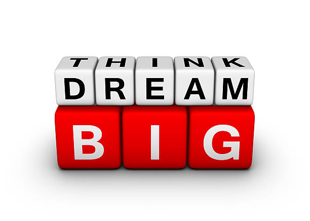 big think big dream stock photo