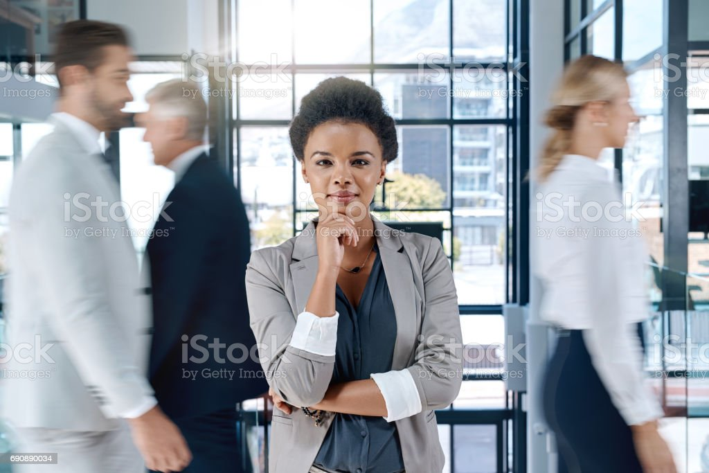 Big thinkers make big decisions stock photo
