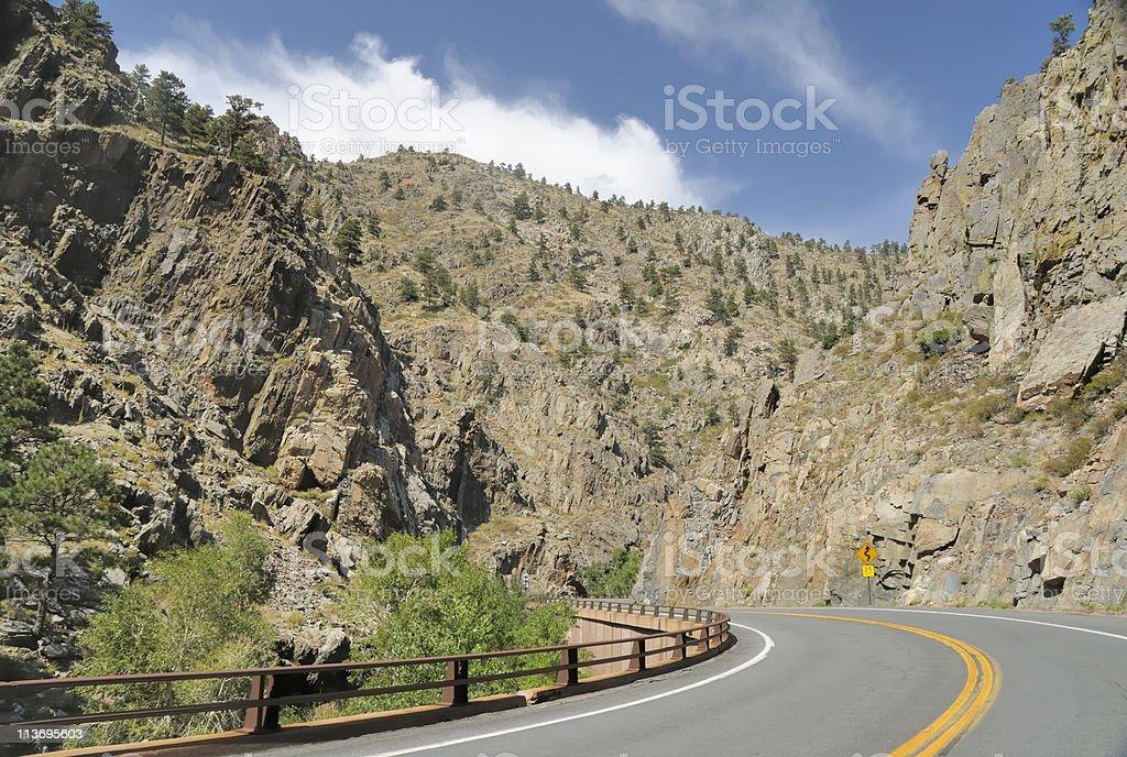 Big Thompson Canyon, Colorado stock photo
